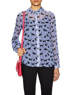 Cats And Cream Chiffon Blouse by kate spade new york at Gilt