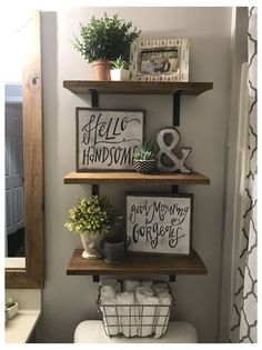 Of Wallpaper, Painted Wallpaper, Wallpaper Borders, Home Renovation, Diy Home Decor, Master Bathroom, White Bathroom, Dyi Bathroom, Bathroom Storage