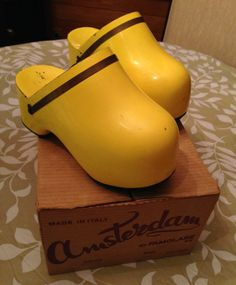 Famolare Vintage 1970's Yellow Molded by MissyMazzaJewelry on Etsy, $300.00