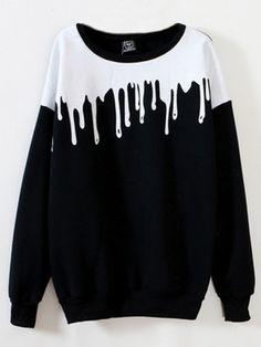 Casual Long Sleeve O Neck Printed Sweatshirt For Women