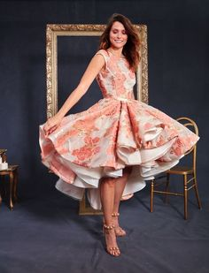 This couture dress would be perfect for the reception