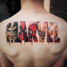 "16.4 k mentions J'aime, 248 commentaires - Inked Magazine (@inkedmag) sur Instagram : ""The ultimate marvel fan tattoo by @maioink #inked #inkedshop #inkedgirls #inkedmag #freshlyinked"""