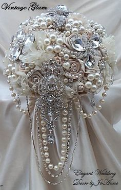 Custom Vintage Glam Bridal Brooch Bouquet 550 Promo Deposit To Place Order
