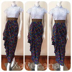 Instagram @xaverana Line ID @xaverana (cantumkan @ nya) Contact us for further information Model Dress Kebaya, Model Dress Batik, Kebaya Modern Dress, Batik Dress, Muslim Fashion, Asian Fashion, Blouse Patterns, Blouse Designs, Dress Brokat