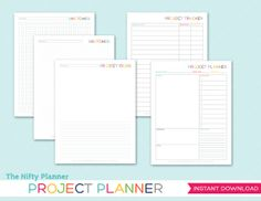 Project Planner Printable Perpetual Instant by TheNiftyPlanner