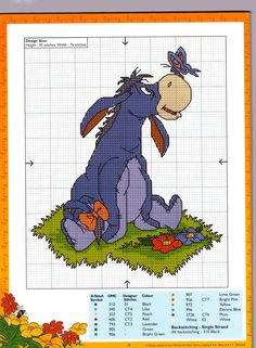 Cross Stitch Eeyore Pattern