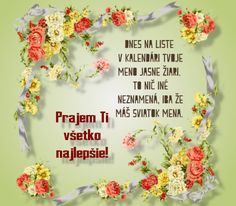 meninove priania Name Day, Lets Celebrate, Birthday Wishes, Letter Board, Names, Lettering, Google, Special Birthday Wishes, Saint Name Day