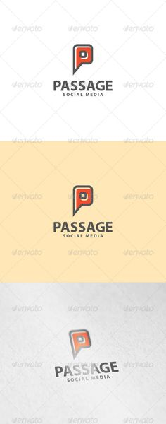 Buy Passage Logo by EmilGuseinov on GraphicRiver. File: - AI, EPS - Vector - CMYK - Text can change - Color can change Fonts: Myriad Pro – basic font (Windows or OS X . Logo Design Template, Logo Templates, Three Letter Logos, Location Pin, Instagram Banner, Logo Branding, Logo Ad, Portfolio Logo, Eps Vector