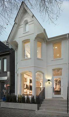 All white house:  casements, trim, etc. all white architecture
