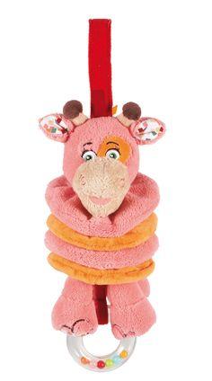 """Z'accroche accordéon Miss'tinguette la girafe de la collection """"Melting'Potes"""" par Latitude Enfant Jouet d'éveil ludique, doudou pour bébé, produit de puericulture. http://www.latitudeenfant.fr/nos-collections/melting-potes/"""