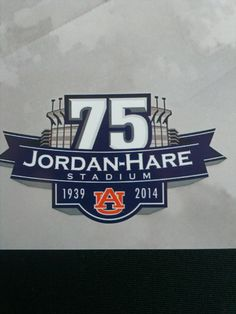 Anniversary logo for Jordan-Hare Stadium. Auburn Football, Auburn Tigers, Baseball, College Football, Hockey, Minimal Logo Design, Graphic Design, Logo Samples, Esports Logo