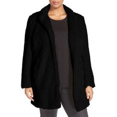 Plus Size Women's Kenneth Cole New York 'Original Teddy' Faux Fur Coat (€105) ❤ liked on Polyvore featuring plus size women's fashion, plus size clothing, plus size outerwear, plus size coats, black, plus size, womens plus coats, kenneth cole coats, faux fur coat and women's plus size coats