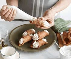 Cannoli recipe (and a brief history) | Gourmet Traveller Desert Recipes, Gourmet Recipes, Cannoli Shells, Cannoli Recipe, Pasta Machine, Thing 1, Sweet Pastries, Bite Size