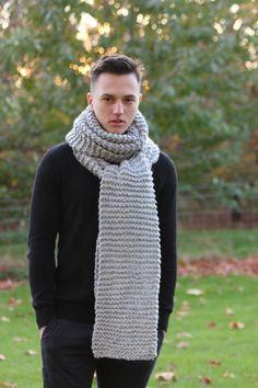 d73e6fa2 Oversized Chunky Scarf, Long Scarf, Winter Scarf, Women's Knitted Scarf,  Men's Knitted