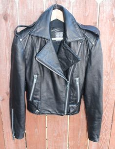 North Beach Moto Jacket Black with Silver Studs by FoxyRae on Etsy