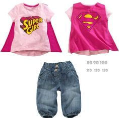 Baby Supergirl Clothes Baby Girl Denim Pants Cartoon T Shirt Superman Cloak T Shirt Jeans Suit Kids Short Sleeve Cotton Bowboys Set Girl Baby Supergirl Clothes Superman Cape Baby Girl Jeans Suit Set Online with $9.77/Set on The_one's Store | DHgate.com