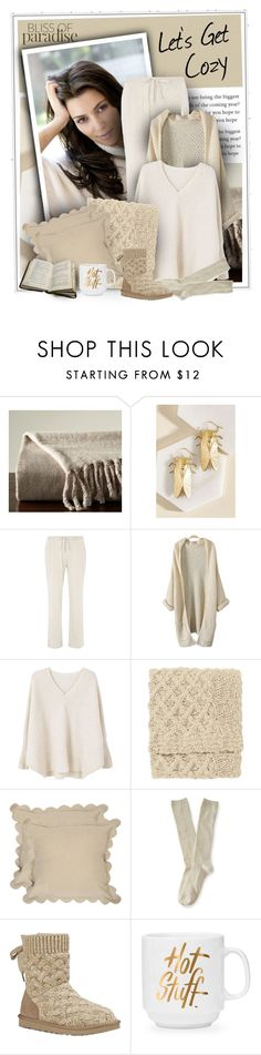 """Let's Get Cozy"" by diva1023 ❤ liked on Polyvore featuring Pottery Barn, Dorothy Perkins, MANGO, Company C, Safavieh, Aéropostale and UGG Australia"