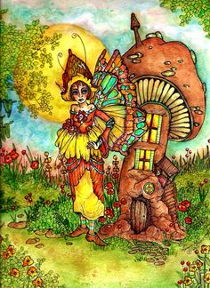 """""""Home Sweet Home"""" by Memory Howell From Fairies of Memory on Face book Copyright 2015"""