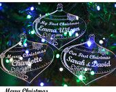 Any Engraving Personalised Christmas Decoration Bauble