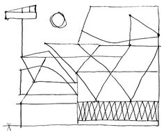 Pencil sketch by Stuart Davis, American Modernist painter, 1892-1964. more at newhousebooks.tumblr.com
