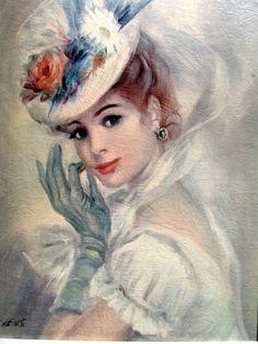 Vintage Litho Art John Strevens 1962 Pretty by LuvOfAllVintage