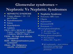 Glomerular Syndromes - Nephrotic vs Nephritic syndrome