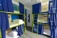 This is what we need. 2 sets of triple bunks in the girls' room (extra bed for friend) and 1 set in boys' room