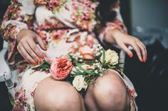 Floral Crown | Beet and Yarrow Floral Design | Caitlin Fairly Photography