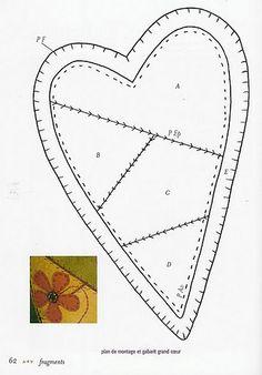 Coração de Feltro - molde 1