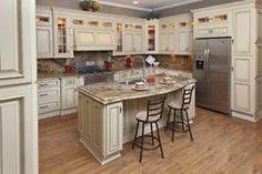 All Wood Kitchen Cabinets Vintage White RTA Free Shiping | eBay