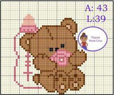 Stitch Cartoon, C2c, Beading Patterns, Crochet Projects, Cross Stitch Patterns, Diy And Crafts, Teddy Bear, Quilts, Barn