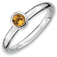 0.23ct Silver Stackable Low 4mm Round Citrine Ring. Sizes 5-10 Jewelry Pot. $22.99. 30 Day Money Back Guarantee. Fabulous Promotions and Discounts!. All Genuine Diamonds, Gemstones, Materials, and Precious Metals. Your item will be shipped the same or next weekday!. 100% Satisfaction Guarantee. Questions? Call 866-923-4446. Save 65%!
