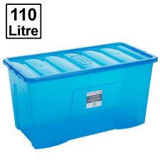 WHAM Crystal Box 11503 - 110 Liter - 795 x 395 x 400mm - transparent-blau