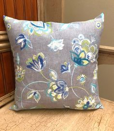 Floral Pillow Cover, Grey Pillow Cover, Contemporary Pillow Case, Throw Pillow Cover, Pillow Cover ONLY, Flower Pillows Grey Pillow Covers, Grey Pillows, Floral Pillows, Sofa Pillows, Throw Pillows, Contemporary Pillow Cases, Flower Pillow, Sewing Pillows, Christmas Pillow