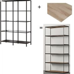 Project: Replace the glass shelves in Ikea's Vittsjo shelving unit with rustic wood ones I create myself.