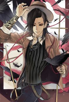 uta is probs my fave character atm, im not very far into the series but idk i just like him :p he reminds me of the Undertaker (black butler) and i liked the Undertaker