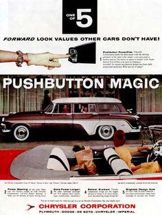 1956 DeSoto Firedome Station Wagon Classic Vintage Print Ad