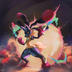 Mega Lucario, Pokemon Universe, Tumblr Pages, O Pokemon, Catch Em All, Pretty And Cute, Deviantart, Beautiful, Comics