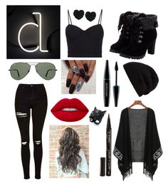 """Letter D💛"" by sillylilli02 on Polyvore featuring Seletti, Topshop, Betsey Johnson, Rick Owens, Alexander Wang, Ray-Ban, Alexis Bittar, Smith & Cult, Lime Crime and MAKE UP FOR EVER"