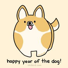 Happy Lunar New Year from a chubby, happy dog! :D May your year be full of good dogs. Webtoon | Patreon | Instagram