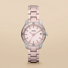 Fossil Stella Mini Aluminum and Stainless Steel Watch – Blush