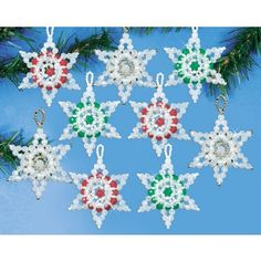 stars beaded ornaments kit add lots of sparkle to your tree with these star ornaments