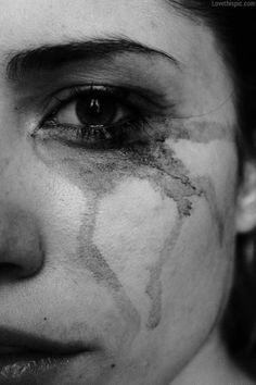 dark tears depressive photography black and white dark sad tears