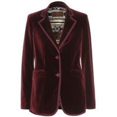 Etro - Velvet blazer - This Etro blazer is simply gorgeous. Chic and stunning, the deep red velvet is cut in a structured style. Wear over black trousers and a fitted white blouse in order to show off the patterned lining. seen @ www.mytheresa.com