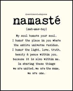 practicing namaste this week