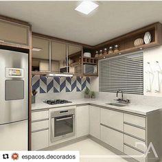 """7 curtidas, 1 comentários - Casa741 (@casa741) no Instagram: """"Achei uma gracinha essa cozinha compacta, e o melhor é que ela se enquadra nas medidas da minha…"""""""