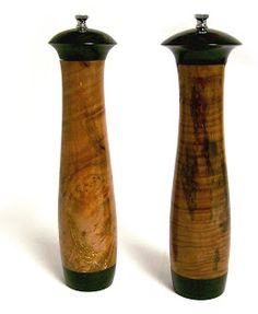 Custom Salt and Pepper Mills - Eucalyptus Burl and Ebony