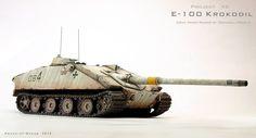 Cromwell Model's E-100 Krokodil, tank-destroyer variant of the Panzerkampfwagen E-100