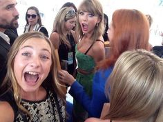 Selfie with fans