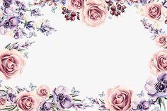 A cor Da flor., Moldura, Flores, ColorPNG e PSD